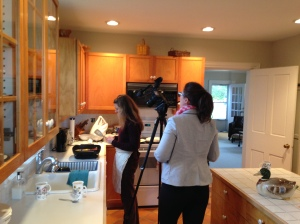 Director of Photography Ali Greene with Meredith Heinrich on location