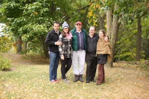 On location at Laurel Hill farms with cast and DOP Ali Greene with writer/director/producer David Merry (left)